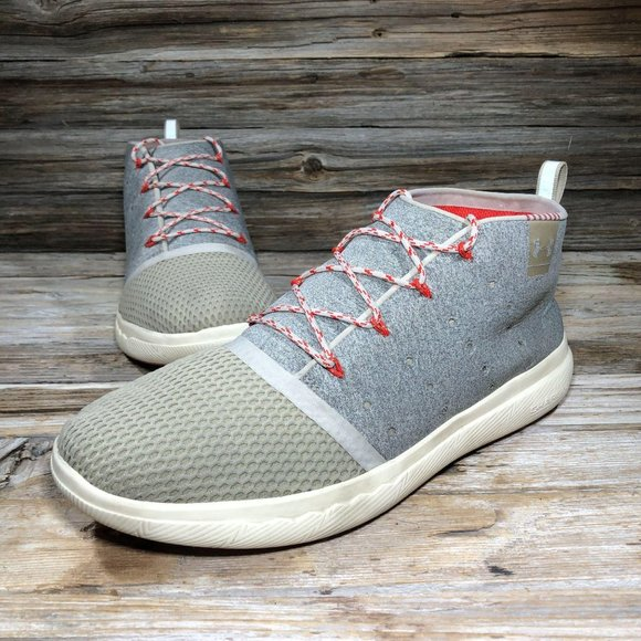 Under Armour Charged 2 Mid Grey Red Sneakers Men